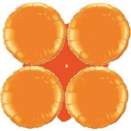 Globos de foil grupo 4 Redondos Naranja