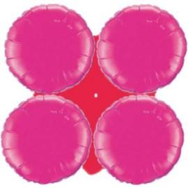Globos de foil grupo 4 Redondos Fucsia