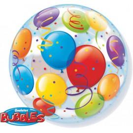 "Globos de 22"" Bubbles Globos de Colores"