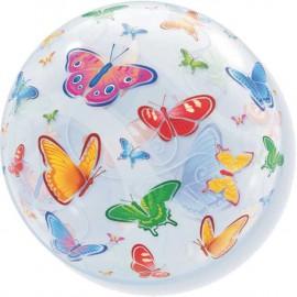 """Globos de foil de 22"""" Bubbles Mariposas"""