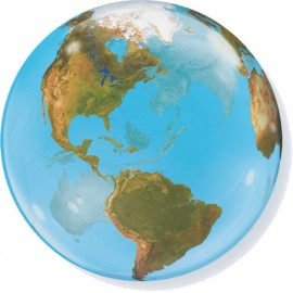 "Globos de 22"" Bubbles Planeta Tierra"