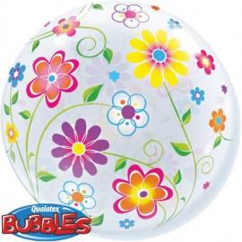 """Globos de foil de 22"""" Bubbles Flores de Primavera"""