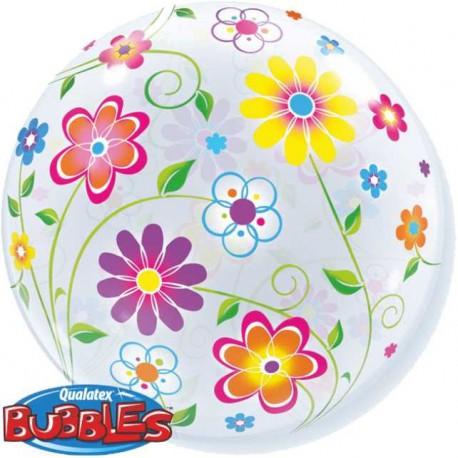 """GLOBOS FOIL 22"""" BUBBLES FLORES DE PRIMAVERA"""