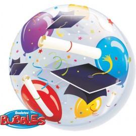 """Globos de foil de 22"""" Bubbles Graduación"""