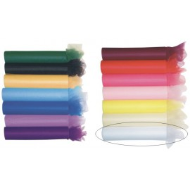 Tulle 30cm x 20m color blanco