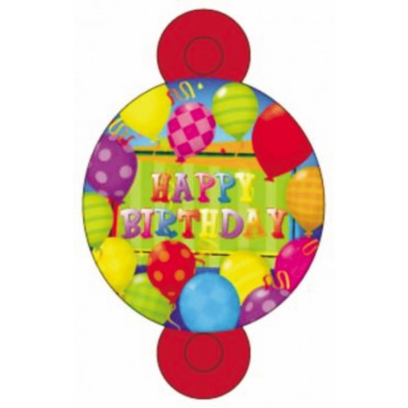 Matasuegras happy bday globos 8uni