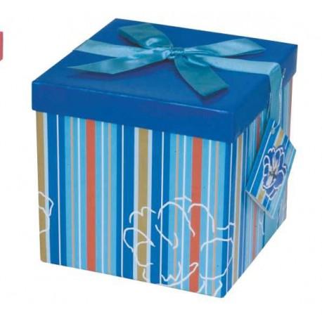 Caja de regalo mediana (15,4 x 15,4 x 15) azul