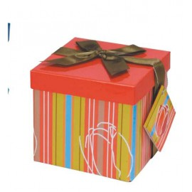 Caja de regalo pequeña (12,8 x 12,8 x 12,2) naranja