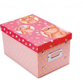 Caja de los tesoros (23,5 x 16 x 13,2) rosa