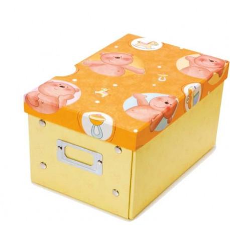 Caja de los tesoros (23,5 x 16 x 13,2) amarilla