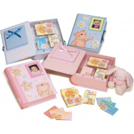 Caja primeras memorias del bebe (34 x 28 x 9) celeste niño