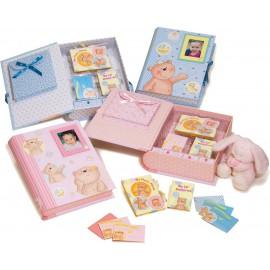 Caja primeras memorias del bebe (34 x 28 x 9) rosa niña