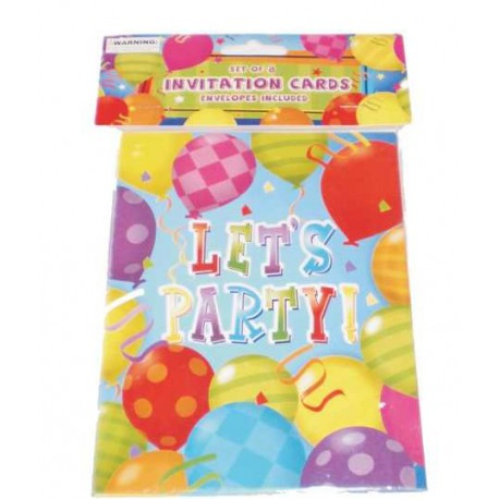 Invitaciones happy bday globos 8uni