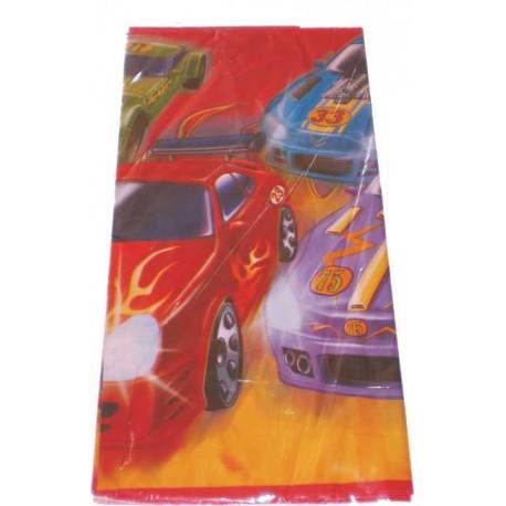 Mantel de plastico temática coches de carreras