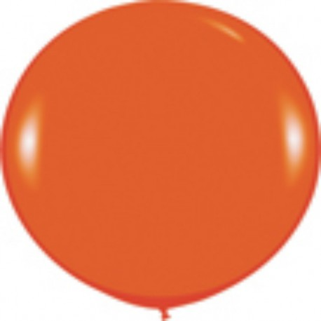 GLOBOS 3FT (100cm) FASHION SOLIDO NARANJA