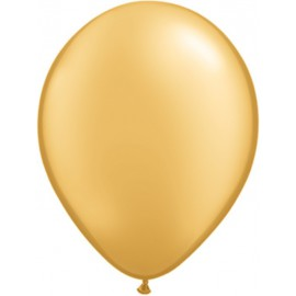 "Globos redondos de 11"" metálico Oro Qualatex"