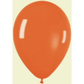 "Globos redondos 5"" Premium Crystal Naranja"