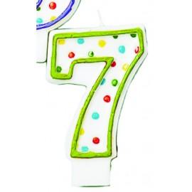 Velas lunares de colores número 7