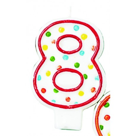 Velas lunares de colores número 8