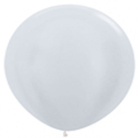 Globos 3FT (100cm) Blanco satín perlado