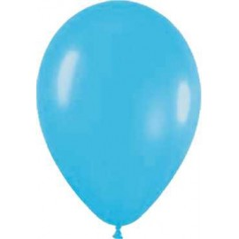"""Globos redondos de 12"""" Azul neón"""