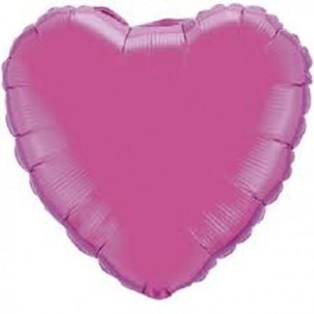 """Globos de foil corazones 9"""" Magenta"""