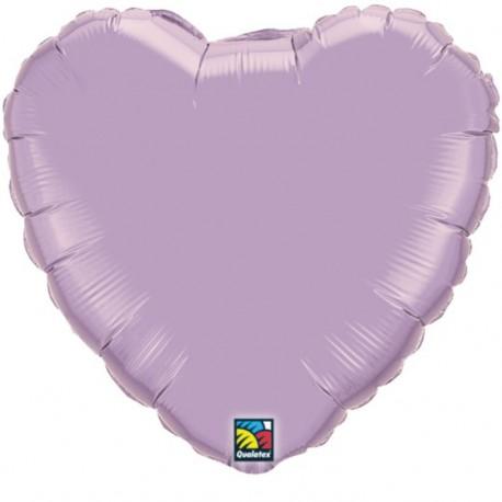 """Globos de foil corazones 9"""" perlado lavanda"""