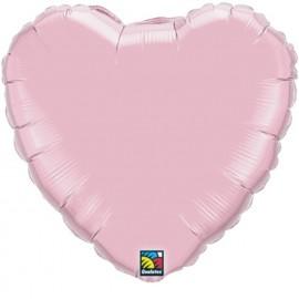 """Globos de foil corazones 9"""" perlado Rosa"""