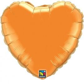 """Globos de foil corazones 18"""" Naranja"""