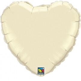 """Globos de foil corazones 36"""" Perlado Marfil"""