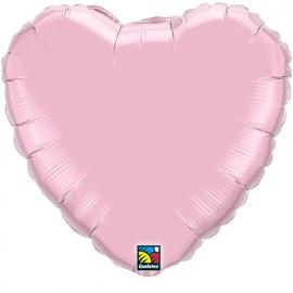 """Globos de foil corazones 36"""" perlado Rosa"""