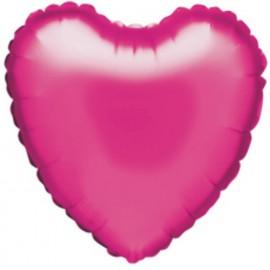 """Globos de foil corazón 18"""" perlado Magenta"""