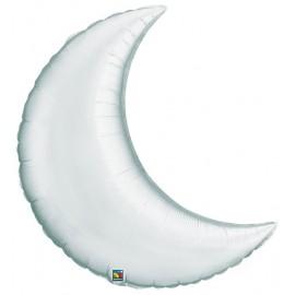 """Globos de foil luna creciente 9"""" Plata"""