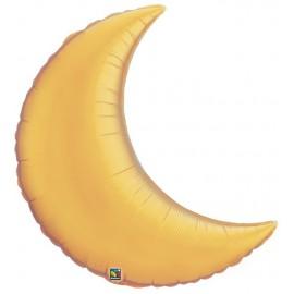 """Globos de foil luna creciente 9"""" Oro"""