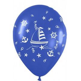 "Globos de 12"" Navegando Azul marino"