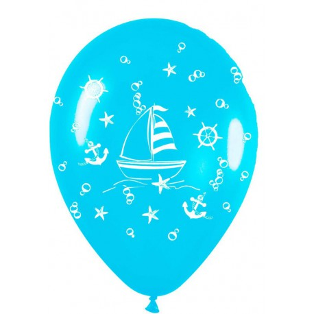 """Globos de 12"""" Navegando Azul claro"""
