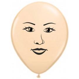 """Globos de 12"""" cara de mujer"""