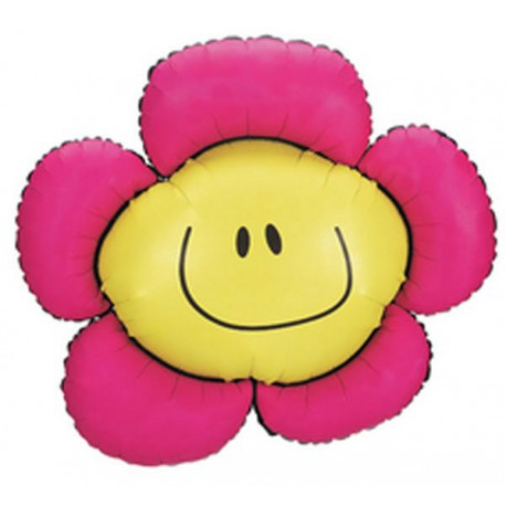 "Globos de foil 38"" Flor sonriente"
