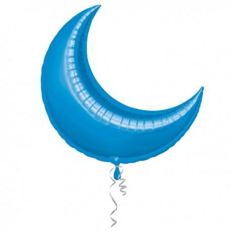 """Globos de foil luna creciente 35"""" azul"""