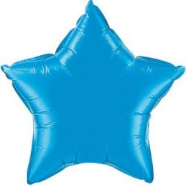 """Globos de foil Estrella de 20"""" Azul zafiro"""