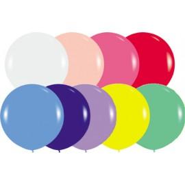 "Globos redondos de 18"" (46Cm) Colores solidos surtidos"