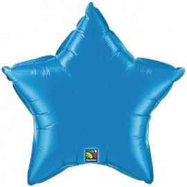 "Globos de foil Estrella de 4"" Azul zafiro Qualatex"
